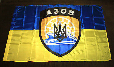 Flag Azov Polk  Battalion Ukrainian Army 120*80 Cm Ukraine War Russia * New