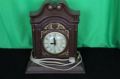 Vintage Ceramic Electric Mantel Clock Antique Shelf Table Decorative Collectible