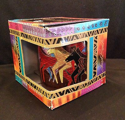 Laurel Burch Mug Mythical Native Horses 2014 Sun 'N' Sand Black Multicolor 14 Oz