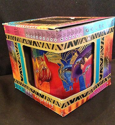 Laurel Burch Mug Mythical Fire Horses 2014 Sun 'N' Sand Multicolor 14 Oz