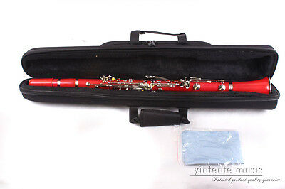 New Clarinet ABS Body nickel Plated Key Bb Key red color High Quality