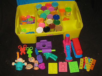 Play Doh Creativity Table Tools Cutters Molds Toy Lot