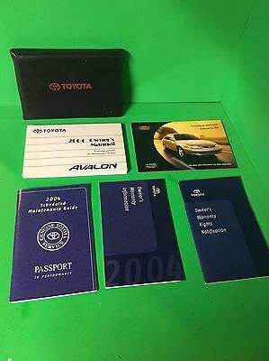 2004 Toyota Avalon  Owners Manual Longtime Trusted Seller