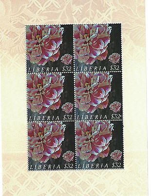 Liberia - 2009 Peony Flower China - Sc 2555 Sheet of 6 MNH