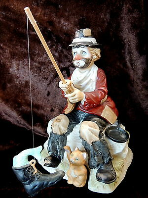 ANIMATED MUSICAL HM Clown Fishing Catch is Fish in Boot by Melody In Motion RARE