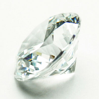 5.50Ct (12mm) Round Brilliant D Color My Russian Diamond Simulated Loose Stone