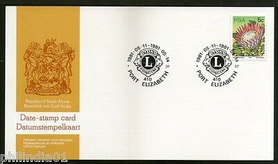 South Africa 1981 Lion's International  Club Convention Date Stamp Card # 16090