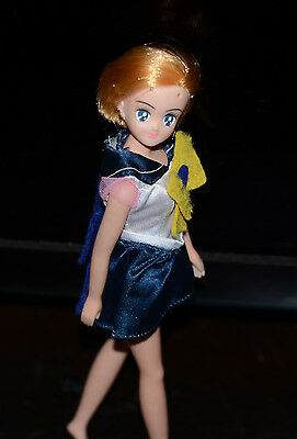 "Sailor Uranus Japanese Sailor Moon Doll 11"" Bandai Japan vintage"