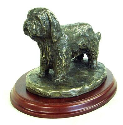 BEARDED COLLIE  Bronze Figurine. Hand made in England. Ideal gift.