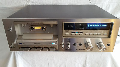 RARE Pionner CT-F750 Stereo Cassette Deck - Player and Recorder - NEW BELTS