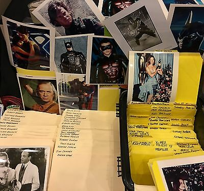 "1000+MOVIE STAR COLOR PHOTO LOT 8"" by 10"" 1970s-1980s LOADED  DIFFERENT STARS"