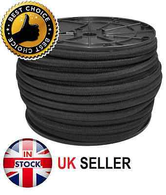 4Mm Extra Strong Black Elastic Bungee Rope Shock Cord Tie Down Free P&P