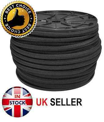 10Mm Extra Strong Black Elastic Bungee Rope Shock Cord Tie Down Free P&p