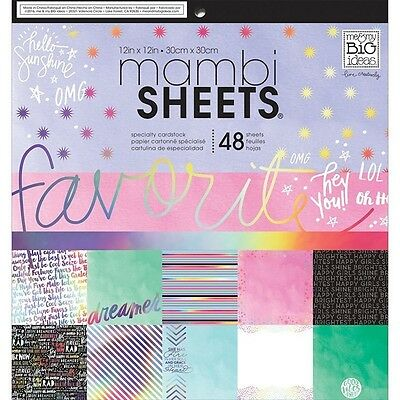 Me & My Big Ideas MAMBI Paper Sheets Rainbow Foil