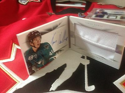 2013-14 National Treasures Rookie Jersey/auto Booklet Tomas Hertl /49 Sharks