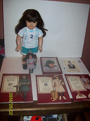 "AMERICAN GIRL  SAMANTHA 18"" DOLL & MINNIE doll  with accesories"