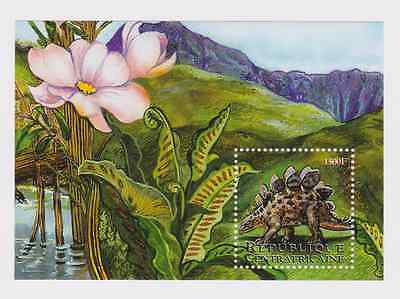 Central African Republic - Dinosaurs, 2001 - Sc 1429 S/S MNH