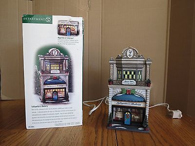 Lafayette's Bakery Dept 56 Snow Village Lighted 58953