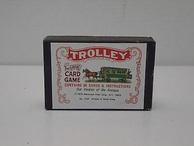 Vintage Trolley The Great Card Game No.1737 Merrimack Publishing