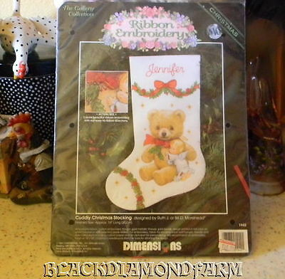 Dimensions Cuddly Stocking Kit Ribbon Embroidery * Unopened *