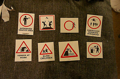 banksy stickers  unsigned