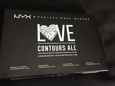 NYX Professional Makeup Love Contour All Eye And Face Sculpting Palette.