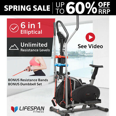 Lifespan Elliptical Cross Trainer Exercise Bike Bicycle GYM FITNESS X-02