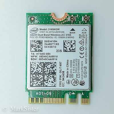 Intel Dual Band Wireless-AC 3165 433 Mbps Bluetooth 4.0 NGFF 00JT497 from Lenovo