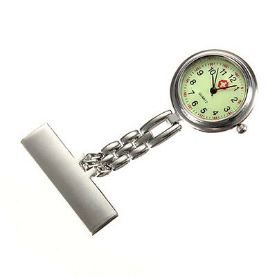 New Nurse Doctor Brooch Tunic Pendant Pocket Luminous Quartz Stainless Fob Watch