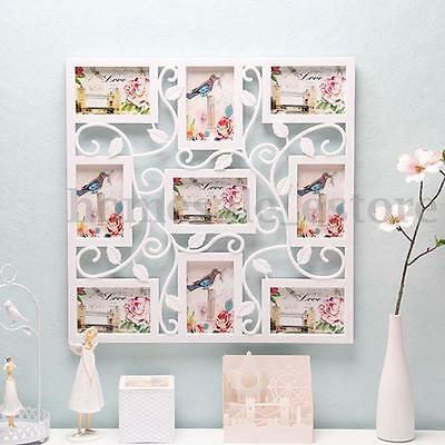 6'' White Flower Collage Photo Picture Frame Display Aperture Wall Decor