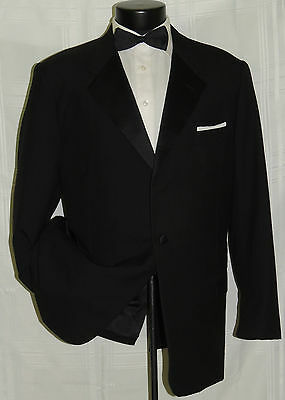 D-516 HICKEY REEMAN Nordstrom 1 button Black formal tuxedo suit jacket coat 46 L