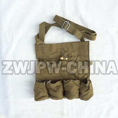 WW2 Chinese  Military Korean War Type 50 4 Cell Ammunition Pouch Ammo Pouch Bag
