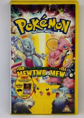 Pokemon The First Movie VIDEO PAL VHS A RARE FIND