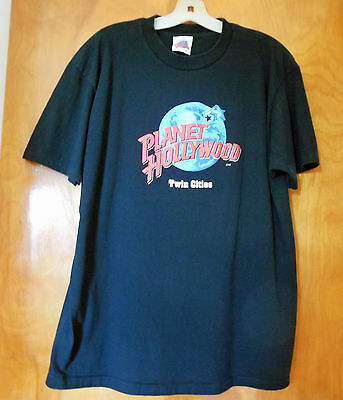 Planet Hollywood Twin Cities Minnesota T-shirt  XL Black 1994 NEW Vintage