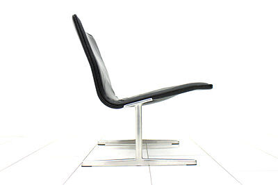Black Leather Lounge Chair by Dieter Rams for Vitsoe & Zapf, Germany, 1960