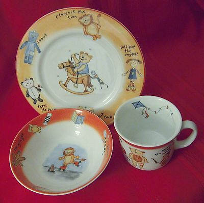 Doulton & Co. HARVEY THE BEAR Children's 3-Piece China; Plate, Bowl, Mug in Box