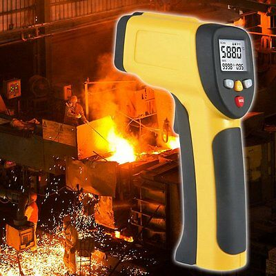 Dual Laser LCD Display IR Infrared Thermometer -50 To 650 Degree Celsius U3