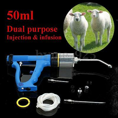 50ml Continuous Drench Gun for Cattle Sheep Goats Oral Pour On Animal Husbandry