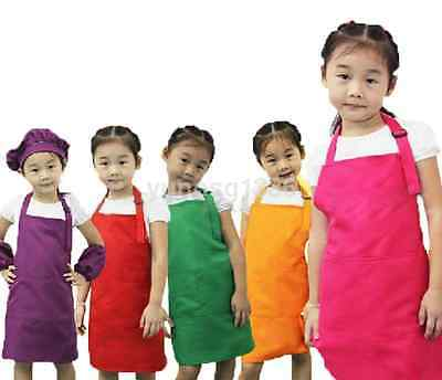 Cute Kid Boys Girls Kitchen Baking Painting Apron Baby Art Cooking Craft Bib New