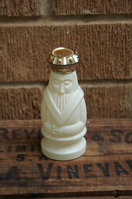 Vintage AVON BOTTLE White Chess King Spicy After Shave Lotion Gold Lid