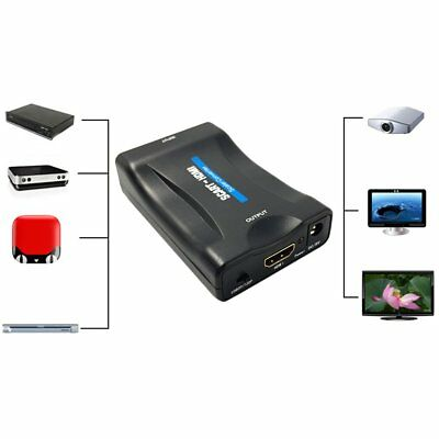 1080P SCART To HDMI Video Audio Converter Adapter for HD TV DVD for Sky Box LoBF