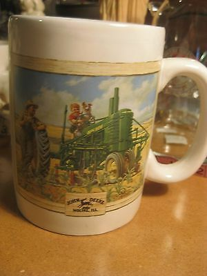 John Deere Farm Tractor Fishing Coffee Mug Cup
