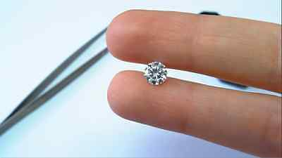 Round Enhanced Loose Cert. Diamond 1.02 CT G/SI1 New For Engagement Ring #63