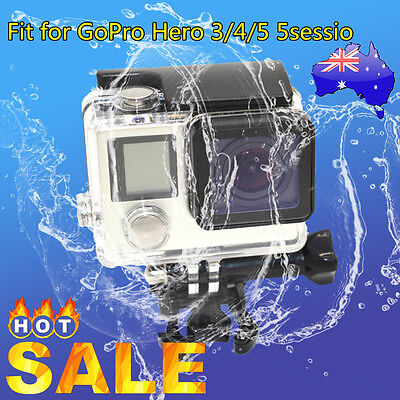 NEW Waterproof Diving Protective Housing Clear Case For GoPro Hero 3/4/5 5sessBF