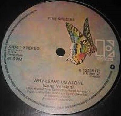 """Five Special Why leave us alone UK WEA (soul vinyl 12"""")"""
