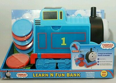 Thomas & Friends Blue Train Learn N Fun Bank Musical Counting Toy 2+ Gift