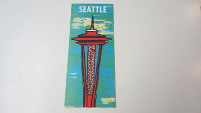 Vintage 1964, Seattle Map & Attractions Map, Washington, Seattle Space Needle