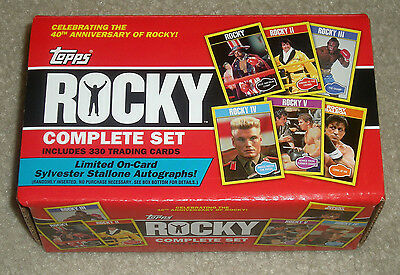 2016 Topps 40th Anniversary Rocky 330-card trading card base set