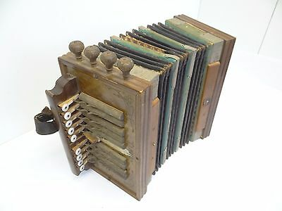 Antique Clarion Accordion Music German Musical Instrument Wood Sound Box Parts
