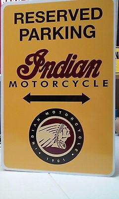 "Indian Motorcycle Aluminum sign  12"" x 18"""